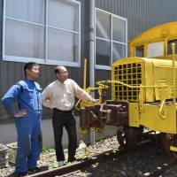 Rail car mover, used to carry bricks in Gifu, to be restored 40 years after retirement