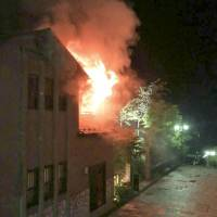 500-year-old Japanese inn hit by fire, one injured