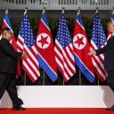 U.S. President Donald Trump meets with North Korean leader Kim Jong Un on Sentosa Island in Singapore on June 12 for a historic summit.