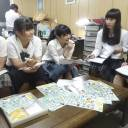 High school students of Aichi Prefefcture gather in Nagoya on June 15 to discuss a plan to hold a mock referendum on constitutional revision and call on high school students nationwide to participate.