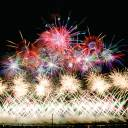 The big bang: Fireworks produced by Hibikiya Omagari Fireworks Co. explode over the city of Daisen in Akita Prefecture.