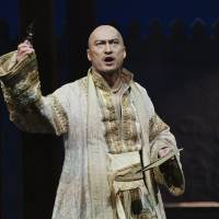 Hitting the right notes: Variety described Ken Watanabe's performance in 'The King and I' on Broadway 'magnificently regal.' | PAUL KOLNIK