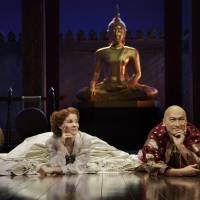 Ken Watanabe performs on stage with Kelli O'Hara in the Broadway production of 'The Kind and I.' | PAUL KOLNIK