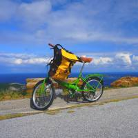 Green machine: The bikes on Tokashiki Island are more suited to a city commute than the islands rugged terrain and steep hills. | ROBERT KODAMA
