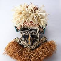 A mask from Kuba in the Democratic Republic of the Congo | COLLECTION OF NATIONAL MUSEUM OF ETHNOLOGY.