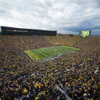 The house that football built: The University of Michigan's stadium is nicknamed 'The Big House.' | UM PHOTOGRAPHY, M. VLOET