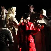 A Japanese woman in New York: A scene from Aya Ogawa's 2008 play 'Oph3lia.' | CARL SKUTSCH