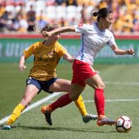 Star power: Yuki Nagasato of the Chicago Red Stars, with Katie Bowen of Utah Royals FC during a regular season National Women's Soccer League (NWSL) match at Rio Tinto Stadium, Utah. | ROB GRAY/ISIPHOTOS.COM