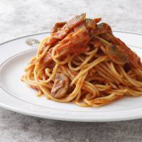 Not quite Italian: Spaghetti Napolitan was invented at the Hotel New Grand in Yokohama and features a tomato-based sauce with bacon and vegetables. | COURTESY OF HOTEL NEW GRAND