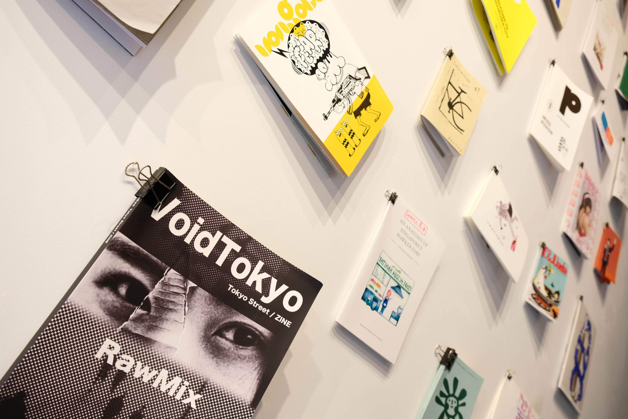 Bold words: Zines on display at  Clouds Art + Coffee's 'Zine House' exhibition. | CLAIRE WILLIAMSON