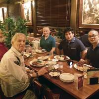 Bill Hersey (second left) with (left to right) William J. Grimm, William Ireton, Tsukasa Shiga and Dale Toriumi, all four of whom have offered tributes to their late friend.