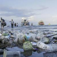 Death by 1,000 cups: At the G7 Summit in Canada, Japan and the U.S. balked at signing a document that set targets for reducing plastic waste in the oceans. | KYODO