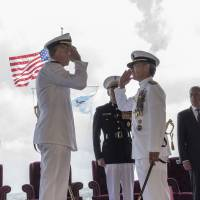 Adm. Phil Davidson (left), relieves Adm. Harry Harris as commander of U.S. Pacific Command (USPACOM), which is 'committed to enhancing stability in the Indo-Pacific region.' | U.S. PACIFIC COMMAND