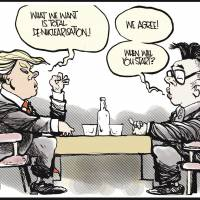 Trump risks welcoming Kim to the nuclear club