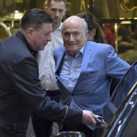 Banned former FIFA president Blatter in Russia for World Cup