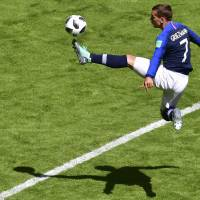 Antoine Griezmann hits historic VAR-assisted penalty as France tops Australia