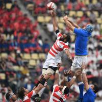 Former Japan coach Sir John Kirwan has high hopes for Brave Blossoms after team's win over Italy