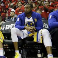 Golden State forward Andre Iguodala, who has been sidelined with a bone bruise in his left knee, is close to returning to action in the NBA Finals against the Cleveland Cavaliers. | AP