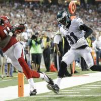 Atlanta Falcons wide receiver Julio Jones is not attending this week's mandatory minicamp due to contractual issues with the club. | AP
