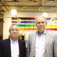 Toichiro Kumagai, Deputy Managing Director and Jan Pieters, former Chief Executive Officer of Suzuki Garphyttan