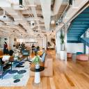 Shared office space at WeWork.