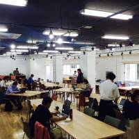 Shared office space at Fukuoka Growth Next. | COURTESY OF FUKUOKA GROWTH NEXT