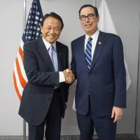 Aso asks U.S. to reconsider planned additional auto tariffs