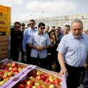 Israeli Defense Minister Avigdor Lieberman visits Gaza's Kerem Shalom crossing, the strip's main commercial border terminal, Sunday.