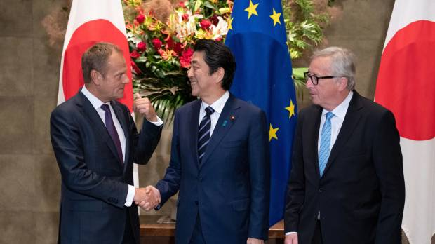 Japan and the European Union complete trade deal accounting for 30 percent of world's GDP