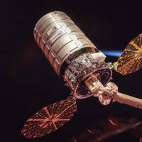 This NASA handout image obtained Wednesday shows an illustration of Cygnus cargo spacecraft as it is set to depart the International Space Station nearly two months after delivery of several tons of supplies and scientific experiments to the orbiting laboratory. Nearly two months after Orbital ATK, now part of Northrop Grumman, delivered several tons of supplies and scientific experiments to the International Space Station aboard its Cygnus cargo spacecraft, the spacecraft is set to depart the orbiting laboratory on July 15. | NASA / HANDOUT / VIA AFP-JIJI