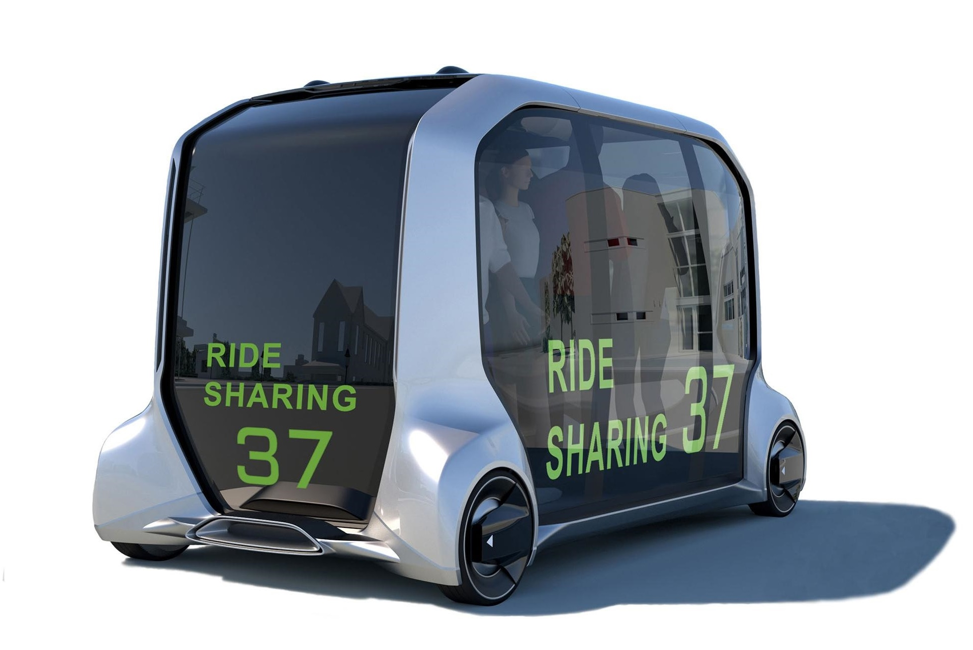 Toyota Motor Corp. plans to use e-Palette autonomous electric vehicles to transport athletes during the Tokyo Olympics in summer 2020. | KYODO