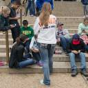 """Teens check their smartphones outside the Natural History Museum in Washington in 2015. Could teenagers suffer symptoms of attention deficit hyperactivity disorder after engaging in excessive smartphone use? A new study out Tuesday says digital overload could be linked to a """"modest"""" but significant rise in new ADHD behaviors, offering a warning to parents about the potential dangers of too much screen time."""