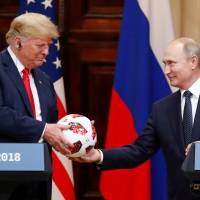 Putin soccer ball gift to Trump gets routine security check