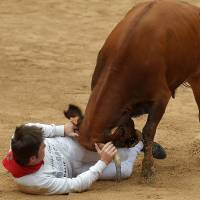 One person gored on opening day of Pamplona bull run festival