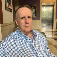 John Ryan, seen June 21 at the Sidney Kimmel Cancer Center at the Johns Hopkins hospital in Baltimore, was diagnosed with lung cancer in June 2013 and was recruited for a clinical trial of an immunotherapy drug. | AFP-JIJI
