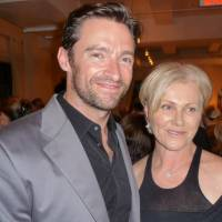 Hugh Jackman and his wife, Deborra-lee Furness, attend a benefit on behalf of the Evan B. Donaldson Adoption Institute in New York on May 14, 2009.