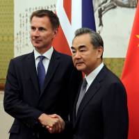 U.K.'s new top diplomat Jeremy Hunt makes 'Japanese wife' gaffe in China