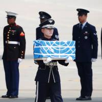 North Korea hands over remains of U.S. war dead on 65th anniversary of Korean War armistice