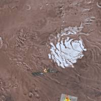 Huge salty lake believed buried beneath Martian pole, raising prospects of life