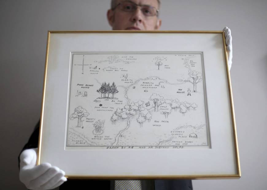 Original 1926 Winnie-the-Pooh illustrated map breaks auction record at £430,000
