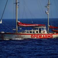 Migrant rescue boat heads for Spain with surviving migrant and bodies as row simmers with Italy