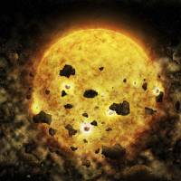 Nearby young star may be chomping a planet