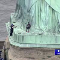 ICE protester's Statue of Liberty climb prompts Independence Day evacuation
