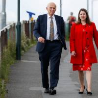 Jo Swinson, deputy leader of the Liberal Democrat Party, is seen arriving at the party's annual conference with party leader Vince Cable in Bournemouth, U.K., on Sept. 19, 2017. | BLOOMBERG