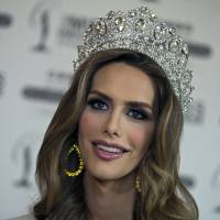 Angela Ponce, who won Spain's Miss Universe competition in June, speaks during an interview Tuesday with The Associated Press in Madrid. The first transgender woman to compete in the global Miss Universe pageant says that, whether winning or not the beauty title, she wants to make history as a role model for trans children around the globe. | AP