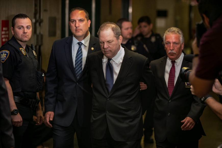 Weinstein lawyer says emails, witnesses show he's innocent, walks on $1 million bail