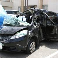 Girl, 13, dies, four other teens seriously hurt after car crash in Okayama