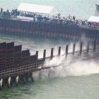 The floodgates in the dike enclosing part of the Ariake Sea have been shut since 1997. | KYODO