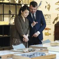 Princess Mako visits Brazilian zoology museum that's home to millions of specimens