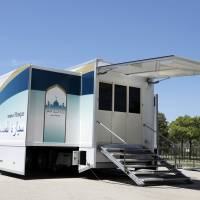 Company unveils mobile mosque to welcome Muslims visiting Japan